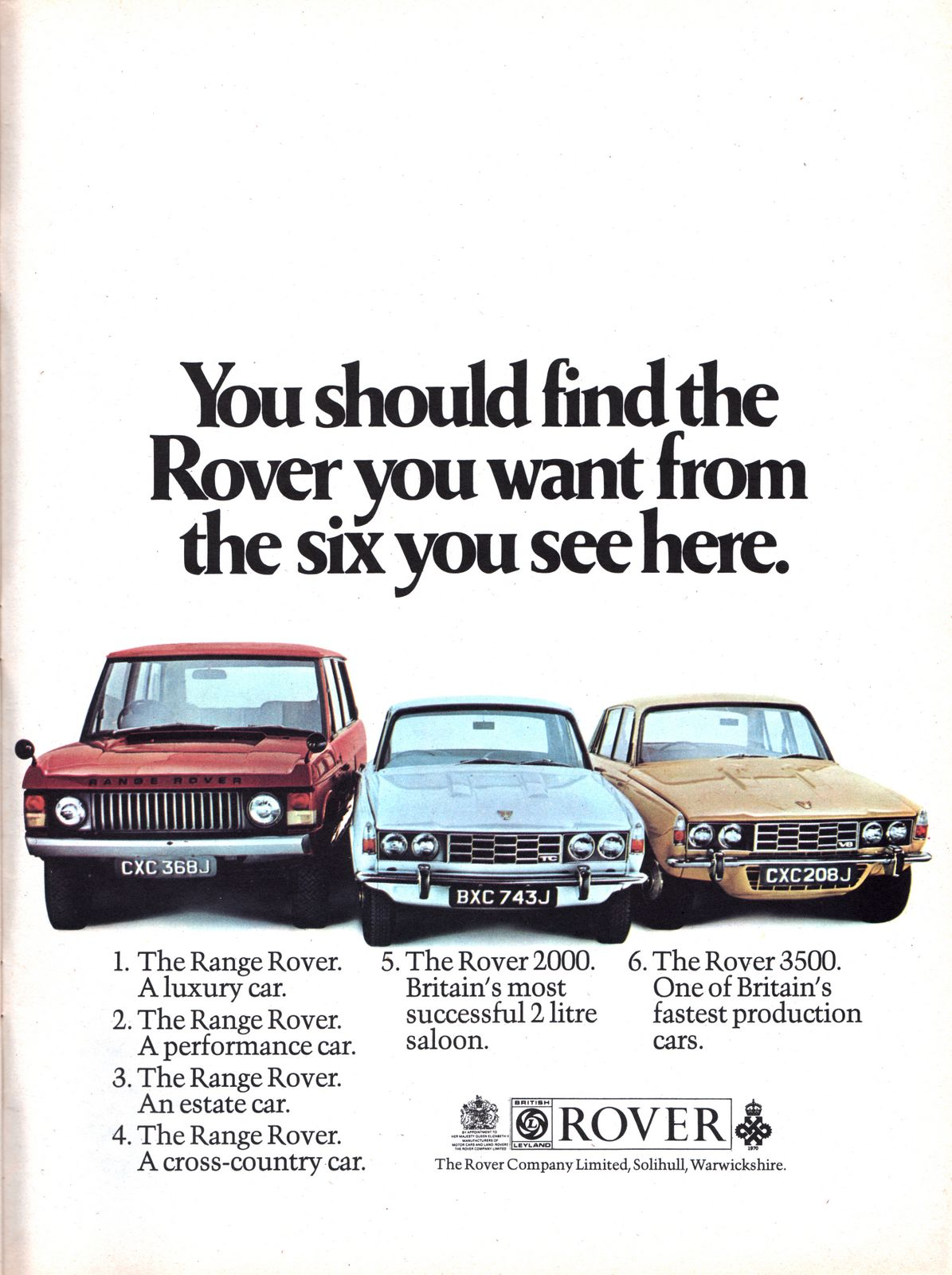 Historical Rover Advertisements Rover Car Club Of Australia